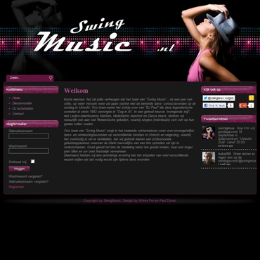 CV - portfolio website - Swing Music