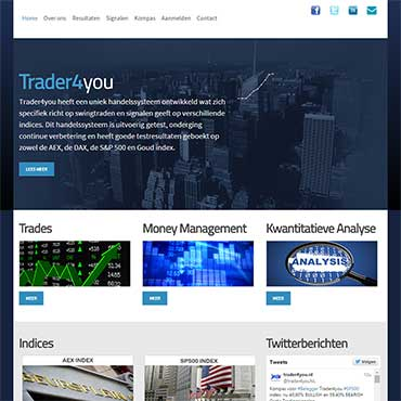 CV - portfolio website - Trader4you